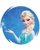 Frozen mold round elsa with a snowflakes in the hand print frozen elsa round holding a snowflake voltagebd Choice Image