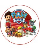 Print Paw Patrol Round With White Background