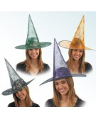 Halloween - cappello da strega ragnatela disponibile in tre colori