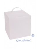 Scatola porta torta quadrata h 20 cm - Chocolate and Cake Creation Box