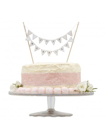 Ginger Ray: Cake Bunting - Topper bandierine Just Married VL-222