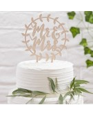 Ginger Ray:  Cake Topper in legno Mr&Mrs -BB-260