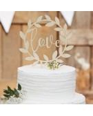 Ginger Ray: Cake Topper in legno Love -CW-234