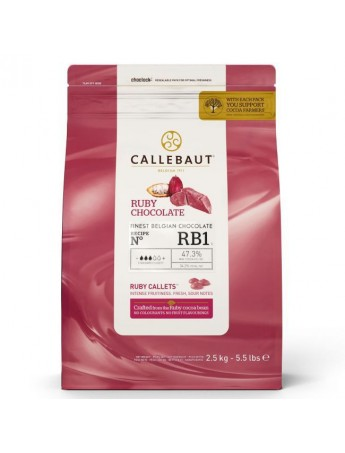 Callebaut Chocolate callests (pastiglie) - RUBY RB1 - 2.5 Kg