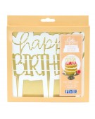 PME - Cake topper cutter happy birthday - modern