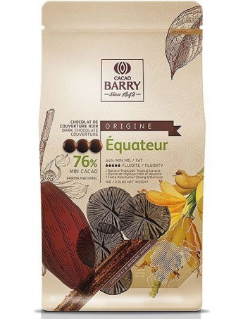 Barry - Dark Chocolate Couverture Equateur 76%