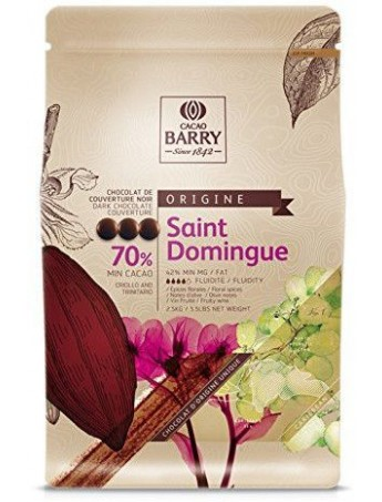 Cacao Barry - Dark Chocolate Couverture Saint Domingue 70%