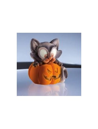 Zucca Halloween Gatto.Silicone Mould Pumpkin With Cat