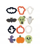 Halloween - Decora 6 mini tagliapasta in plastica - 0255090