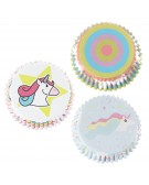 Baking cups muffin / cupcake Unicorn 60 pcs - PME BC904