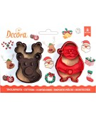 Christmas - Decora 2 cookie cutters Santa Claus and reindeer- 0255095