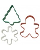 Wilton: Christmas biscuit cutlery 3pz. 2308-0131