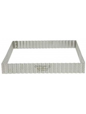 DeBuyer: micro- perforated square-wavy frame for cakes cm 23x23 h 3