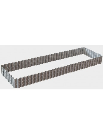DeBuyer: micro- perforated rectangular-wavy frame for cakes cm 35x9,5 h 3 - 3032.35