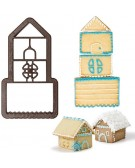 Christmas - 3D House Plastic Cookie Cutter - 0255050