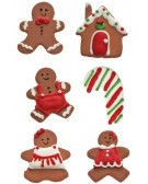 """Sugar decoration """"Christmas subject"""" - (gingerbread-house-candy cane) Decora 0500354"""
