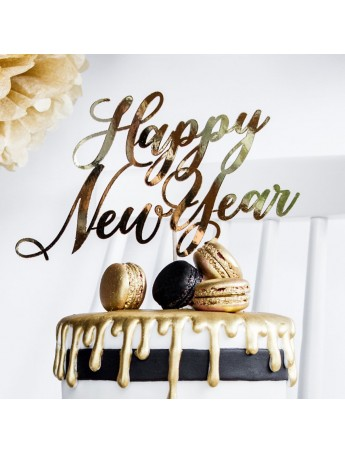 Cake Topper - Decorazione per torta Happy New Year KPT32-019M