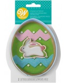 Egg and Mini Bunny Cookie Cutter Set, 2-Piece- Wilton 2308-7559