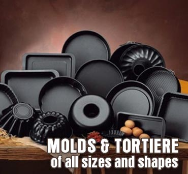 molds and tortiere